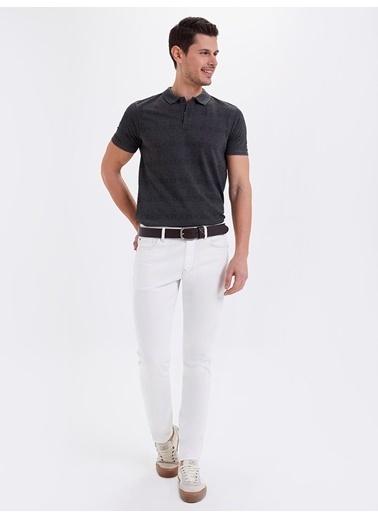 Loft Loft Ricardo Beyaz Slim Fit Denim Pantolon Renksiz